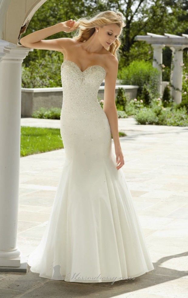 20 Elegant Strapless Wedding Dresses (10)