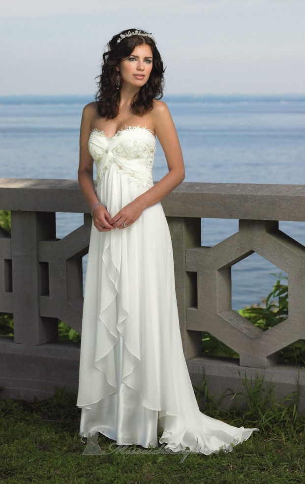 20 Elegant Strapless Wedding Dresses (12)