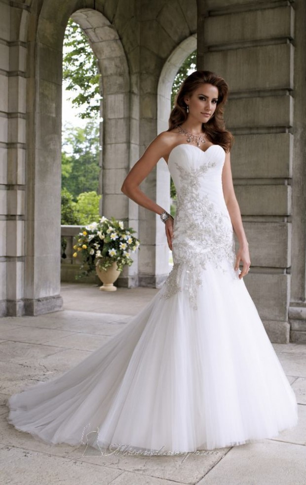 20 Elegant Strapless Wedding Dresses (14)