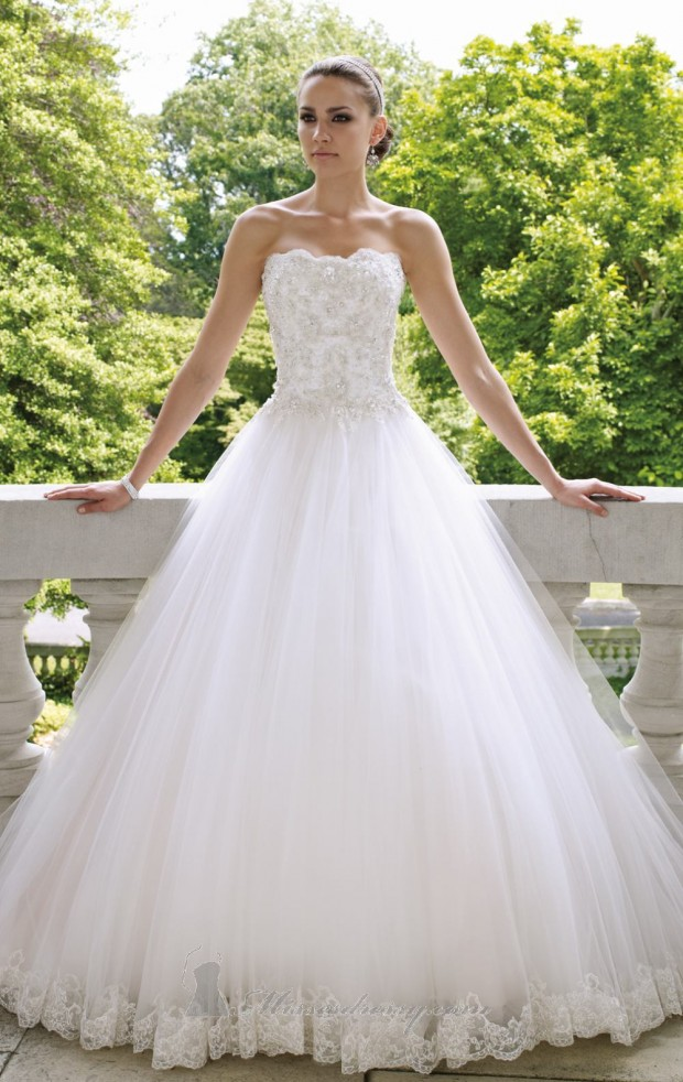 20 Elegant Strapless Wedding Dresses (15)