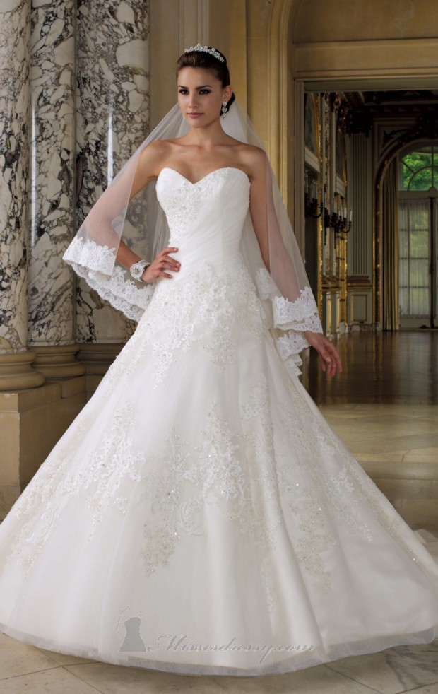 20 Elegant Strapless Wedding Dresses (16)