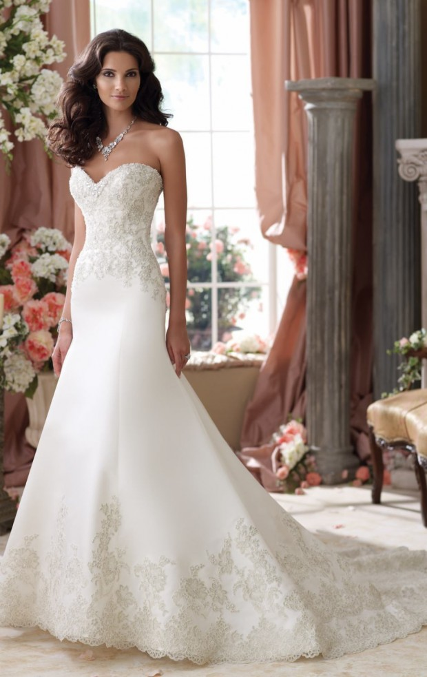 20 Elegant Strapless Wedding Dresses (18)