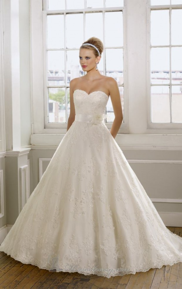 20 Elegant Strapless Wedding Dresses (2)