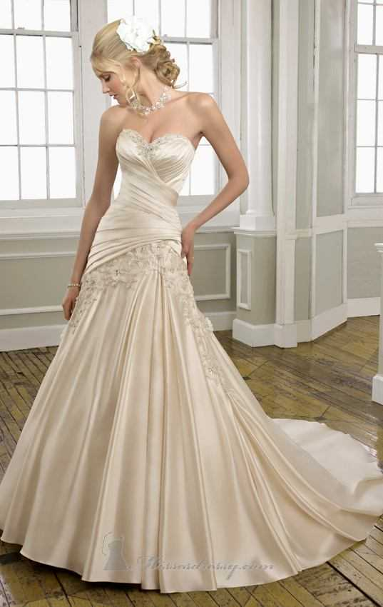 20 Elegant Strapless Wedding Dresses (3)