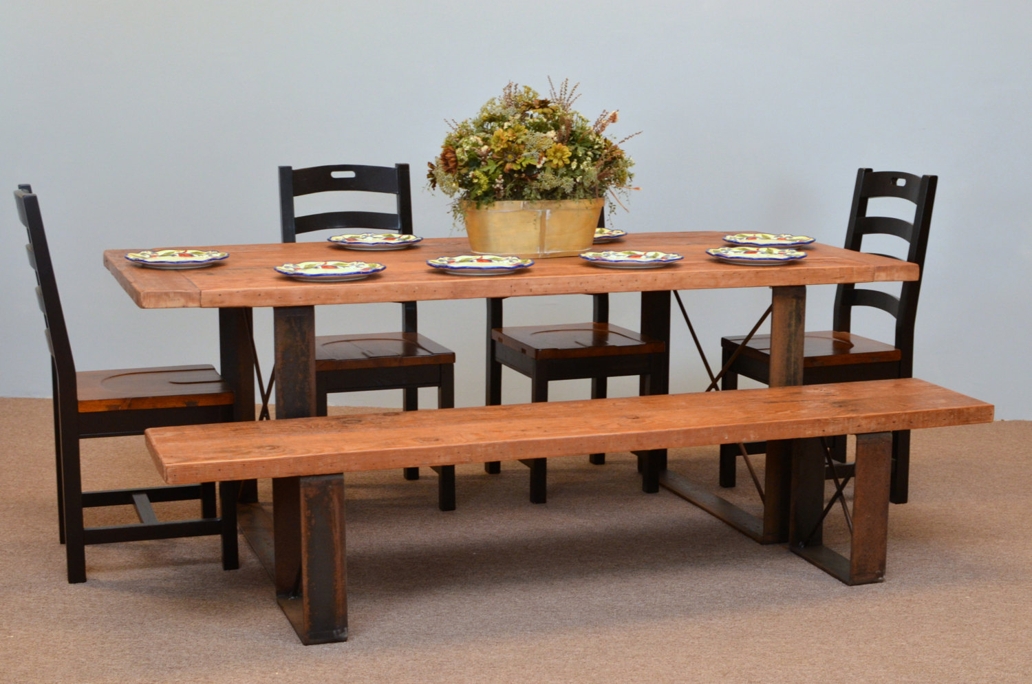 22 country style diy projects from reclaimed wood style for Country style table