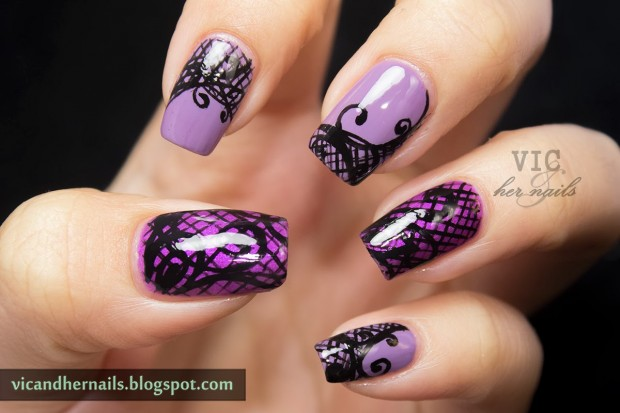 24 Beautiful Purple Nail Art Ideas (1)