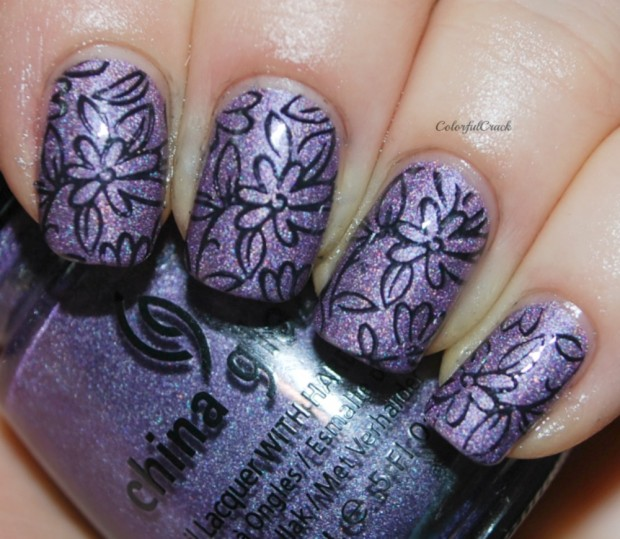 24 Beautiful Purple Nail Art Ideas (11)