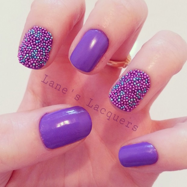 24 Beautiful Purple Nail Art Ideas (13)