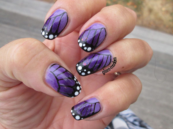 24 Beautiful Purple Nail Art Ideas (14)