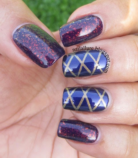 24 Beautiful Purple Nail Art Ideas (21)