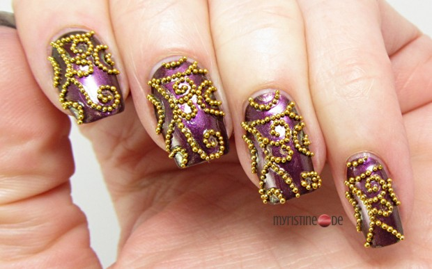24 Beautiful Purple Nail Art Ideas (3)