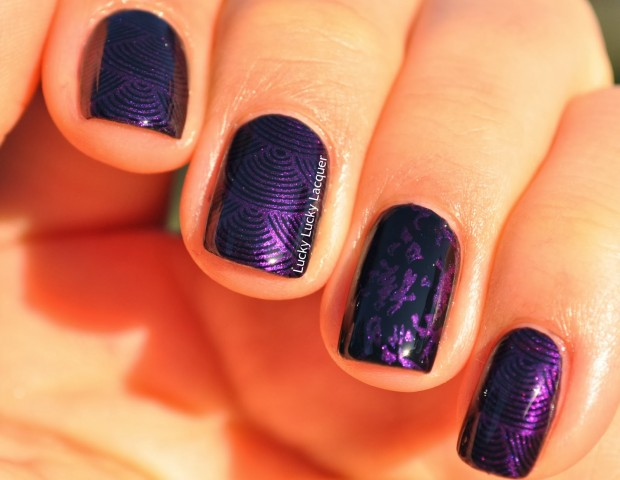 24 Beautiful Purple Nail Art Ideas (9)