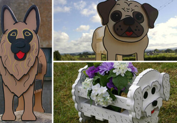 24 Outstandingly Cute DIY Canine Planters - wood, terrier, spring, shepherd, retriever, Planter, plant, outdoor, labrador, indoor, husky, handmade, garden, flowers, dog, diy, decoration, canine, bulldog, breed, animals