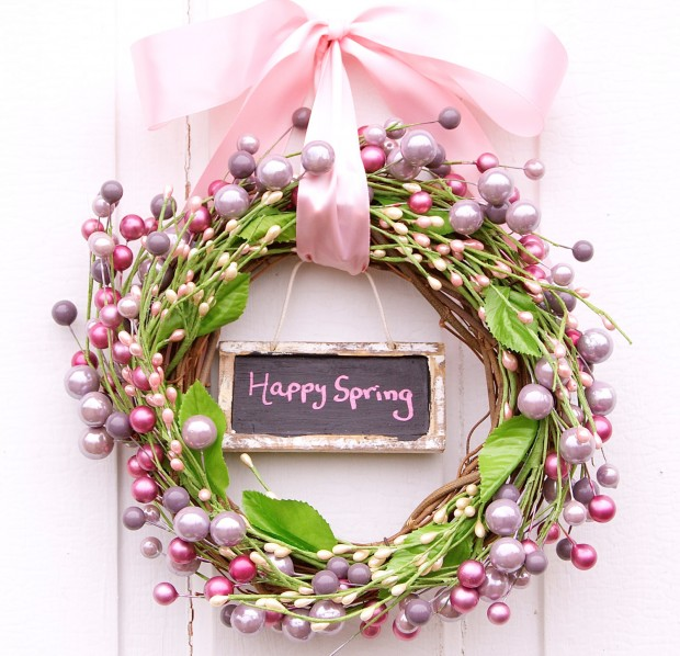 26 Creative and Easy Handmade Easter Wreath Designs (15)