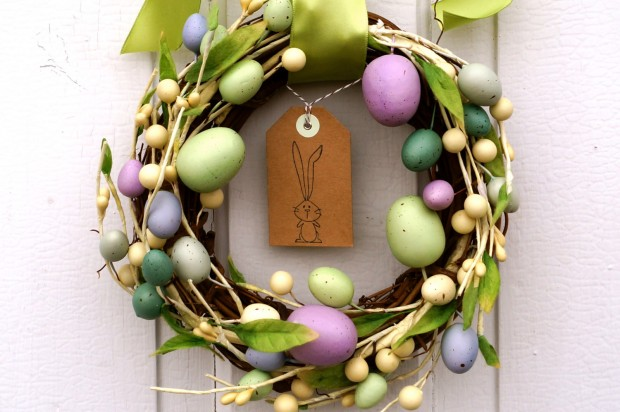 26 Creative and Easy Handmade Easter Wreath Designs (16)