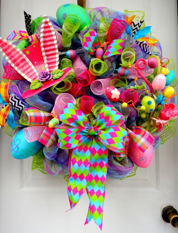 26 Creative and Easy Handmade Easter Wreath Designs (19)