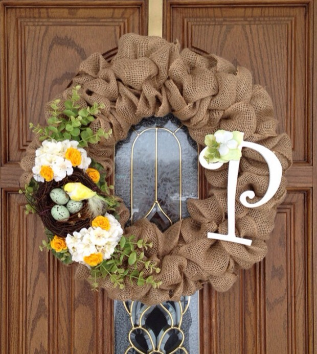 26 Creative and Easy Handmade Easter Wreath Designs (21)