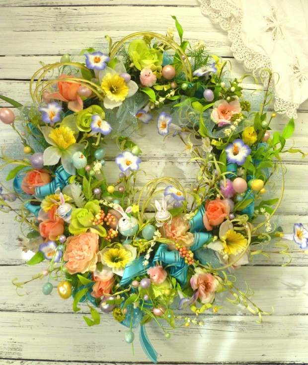 26 Creative and Easy Handmade Easter Wreath Designs (22)