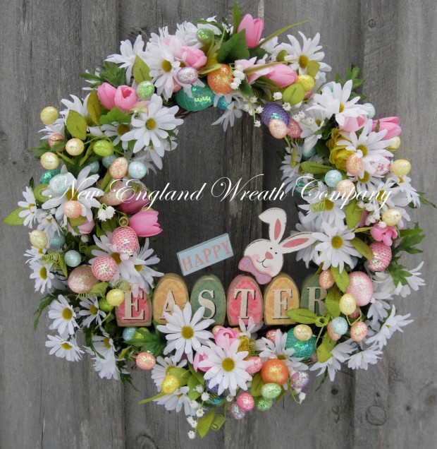 26 Creative and Easy Handmade Easter Wreath Designs (23)