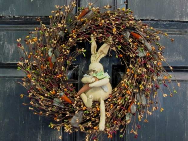 26 Creative and Easy Handmade Easter Wreath Designs (24)