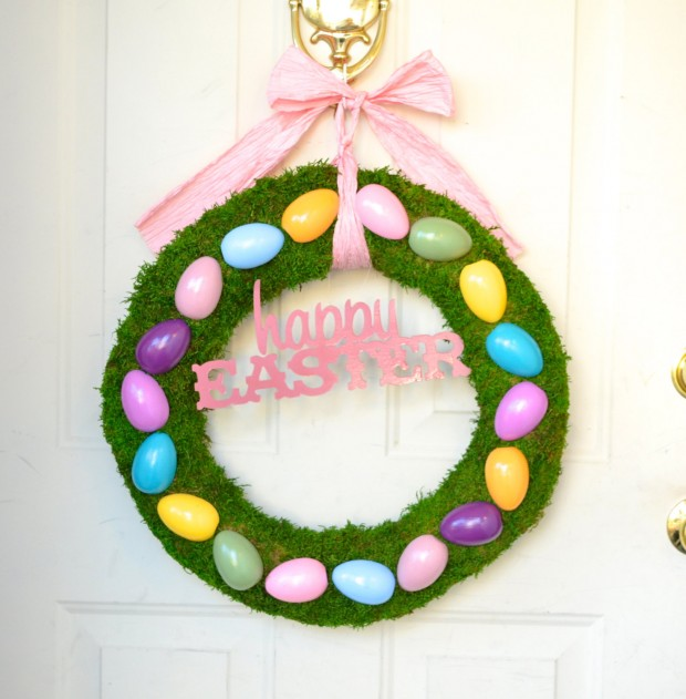 26 Creative and Easy Handmade Easter Wreath Designs (26)