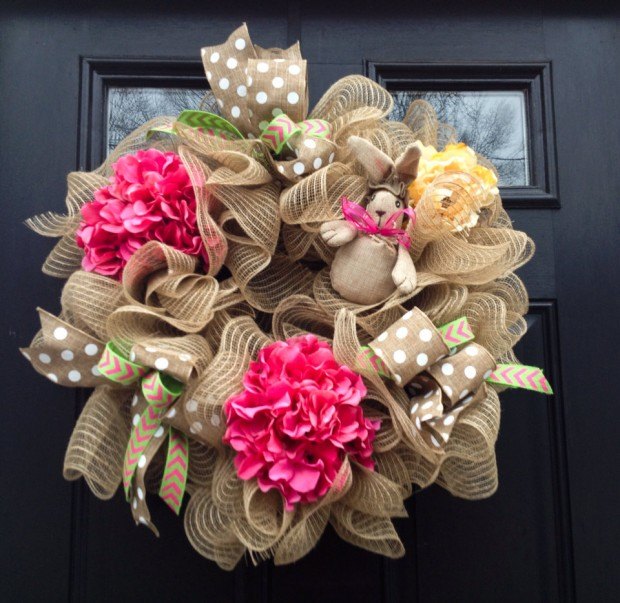 26 Creative and Easy Handmade Easter Wreath Designs (4)