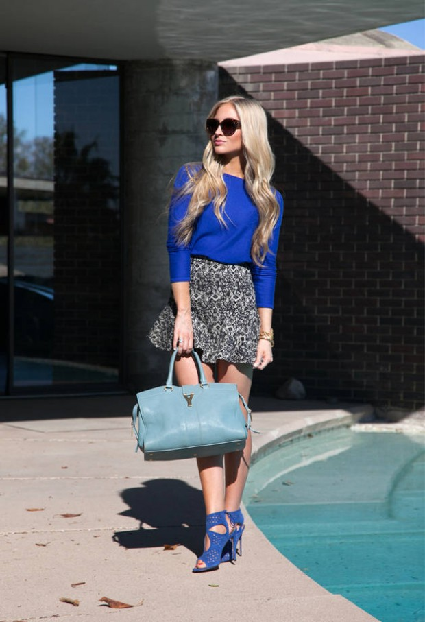 Cobalt Blue for Powerful Stylish Look 20 Outfit Ideas (6)