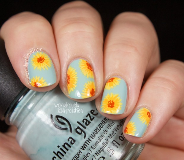 Collection of 23 Beautiful Floral Nail Art Ideas (13)