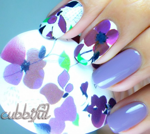 Collection of 23 Beautiful Floral Nail Art Ideas (5)