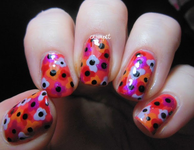 Collection of 23 Beautiful Floral Nail Art Ideas (8)