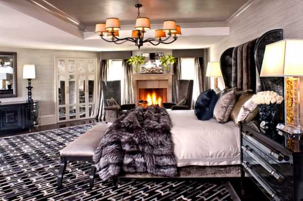 21 glamorous master bedroom design ideas style motivation for Decoration maison kris jenner