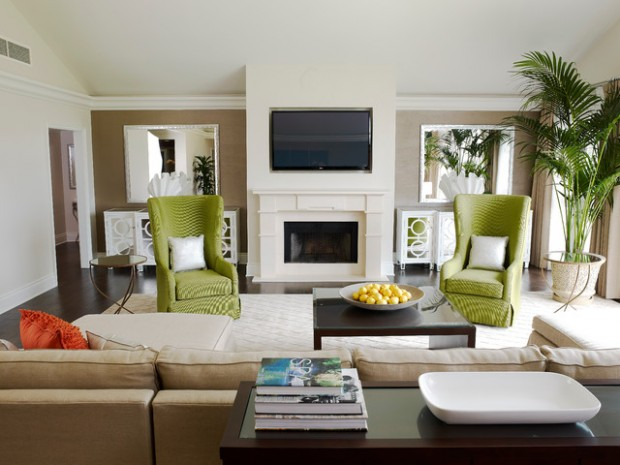 Green Details for Relaxing Interior Look