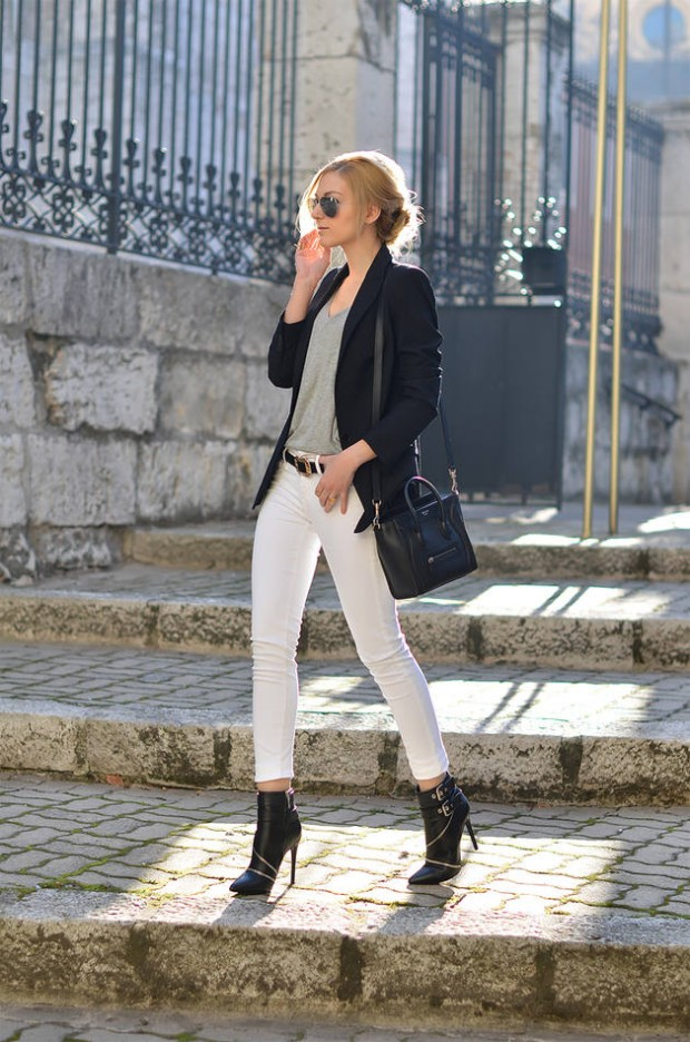 Model White Jeans Outfit Ideas For Women 20 Style Tips On How To Wear White