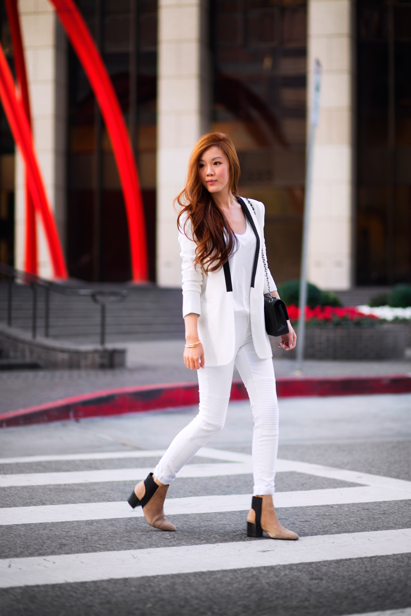 fancy outfit ideas with white pants 10