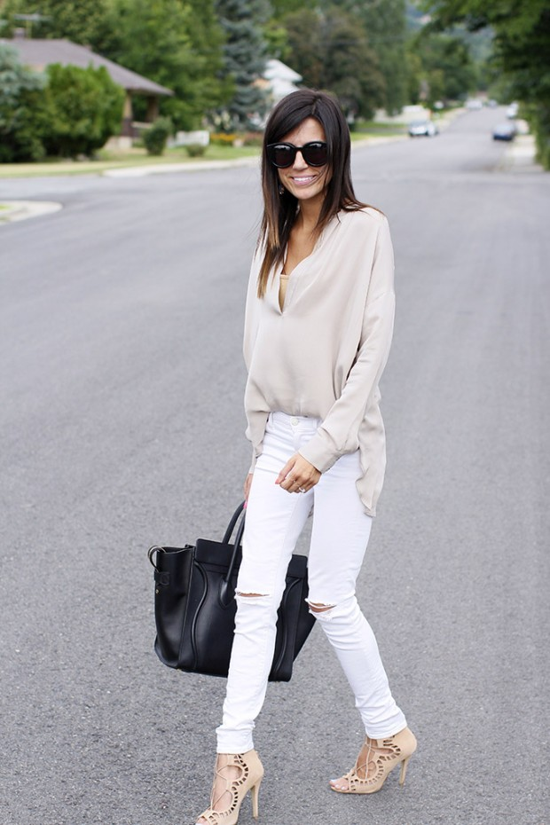 How to Wear White Jeans: 17 Stylish Outfit Ideas