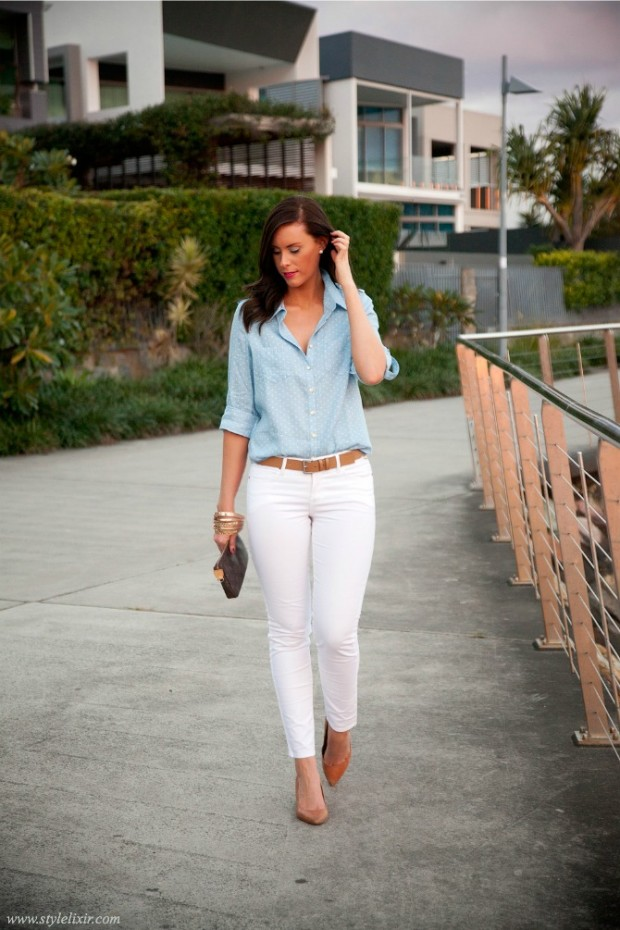 New Some Are Extremely Light And Perfect For Spring And Summer Outfits And Others Are Deep And More Suitable For Winter Looks You Can Wear Your Green Pants At Work With A Basic White Tshirt  Chic Spring Work Outfit Ideas For Women 5 Work