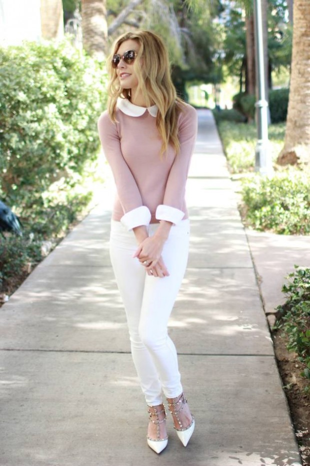 How to Wear White Jeans 17 Stylish Outfit Ideas (5)