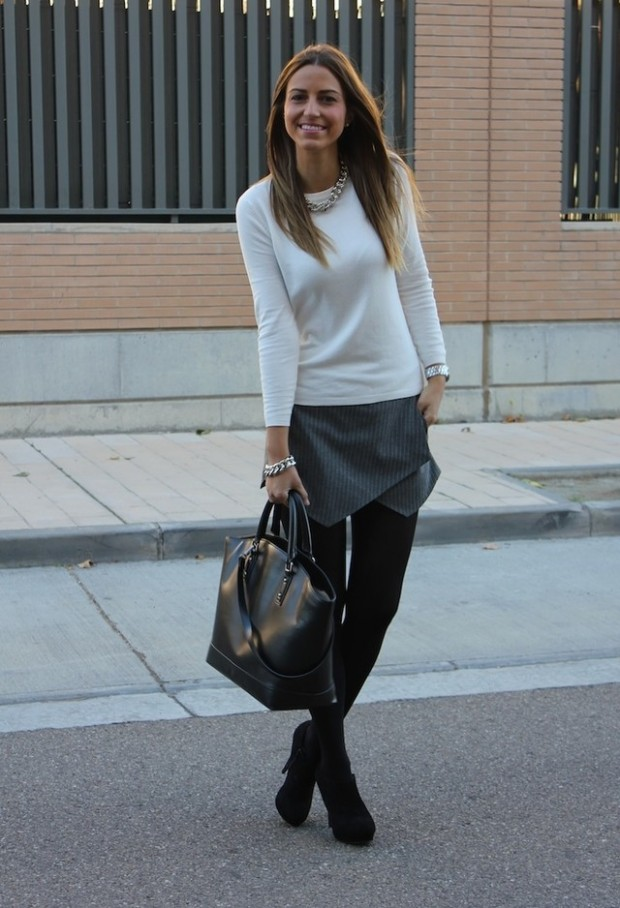 Skort for Modern Look 17 Stylish Outfit Ideas (13)