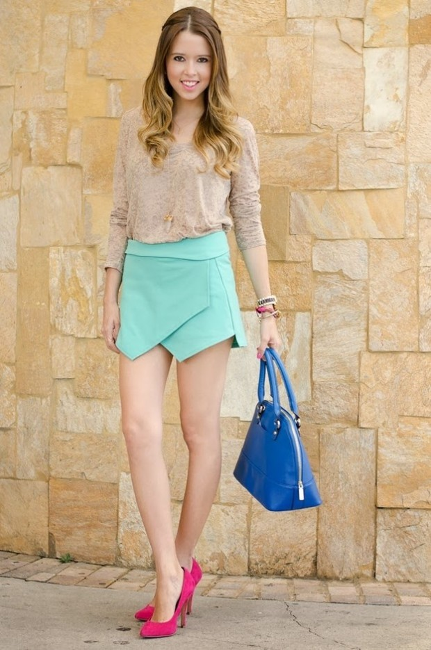 Skort for Modern Look 17 Stylish Outfit Ideas (14)