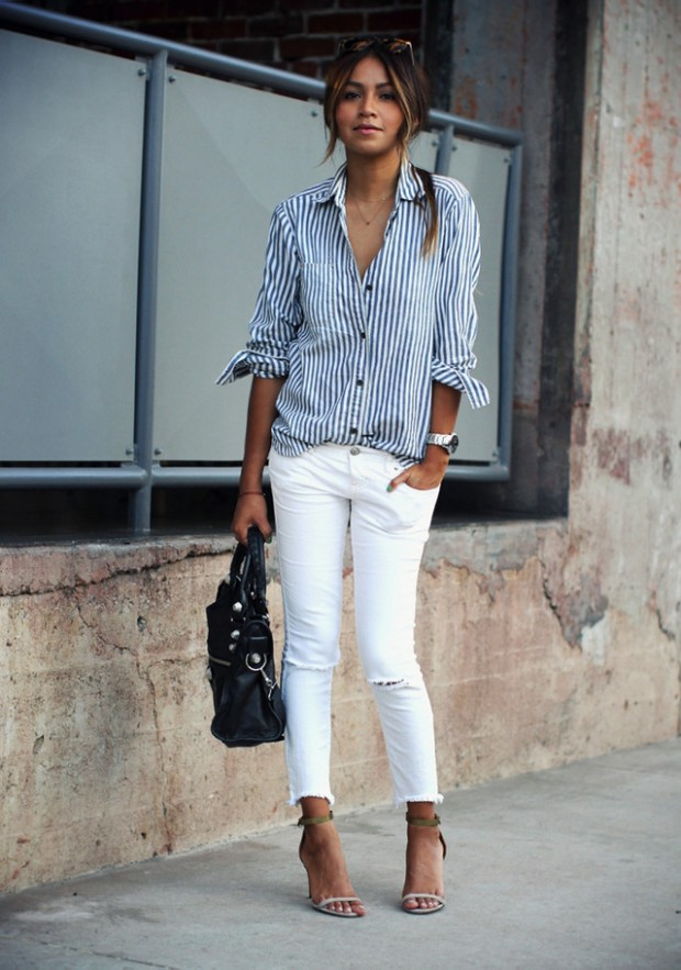 Stripes for Trendy Chic Look 20 Stylish Outfit Ideas (13)