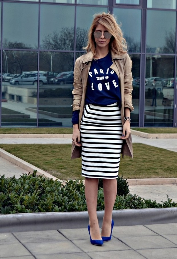 Stripes for Trendy Chic Look 20 Stylish Outfit Ideas (19)