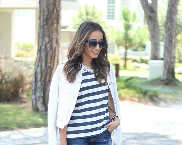 Stripes for Trendy Chic Look: 20 Stylish Outfit Ideas - stripes outfit ideas, Stripes, Outfit ideas