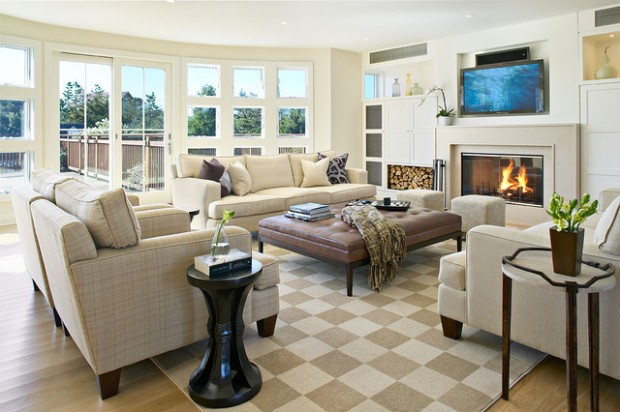 17 Great Living Room Design Ideas in Beach Style - Style Motivation