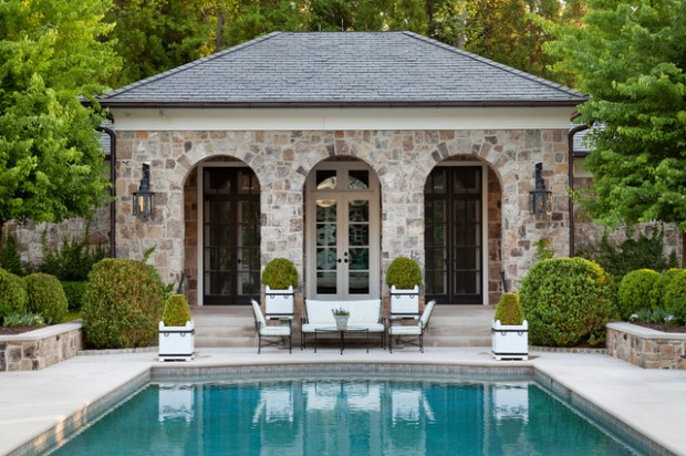 22 fantastic pool house design ideas style motivation for Outdoor pool house designs