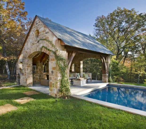 22 fantastic pool house design ideas style motivation for Pool house designs with outdoor kitchen