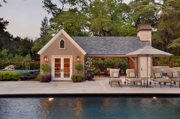 22 fantastic pool house design ideas style motivation for Pool guest house floor plans