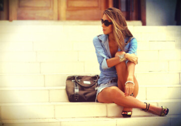 How to Wear Denim on Denim: 17 Chic Outfit Ideas  - jeans outfits, jeans, how to wear, denim shirt, denim outfit, denim on denim, denim
