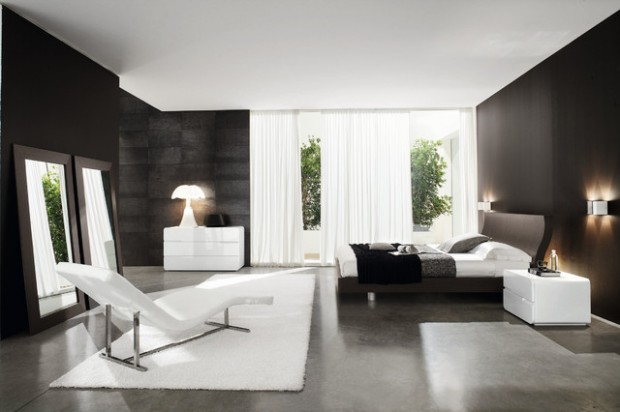 15 elegant black and white bedroom design ideas style Bedrooms decorated in black and white