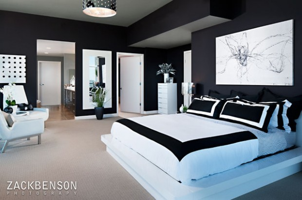 bedroom design 15 x 10  15 Elegant Black and White Bedroom Design Ideas - Style Motivation
