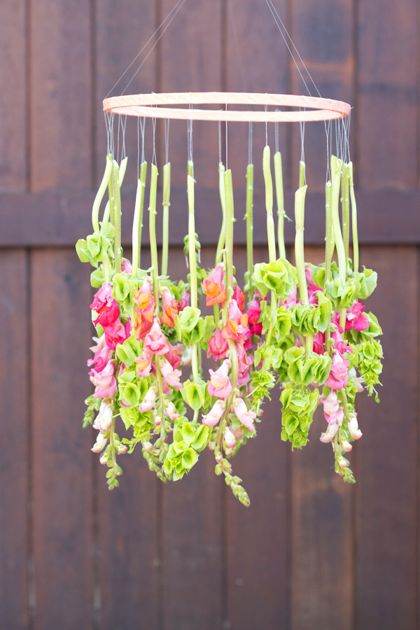 diy spring easy projects touch crafts decor decoration chandelier hanging flower flowers floral summer garden backyard fun idea awesome stuff